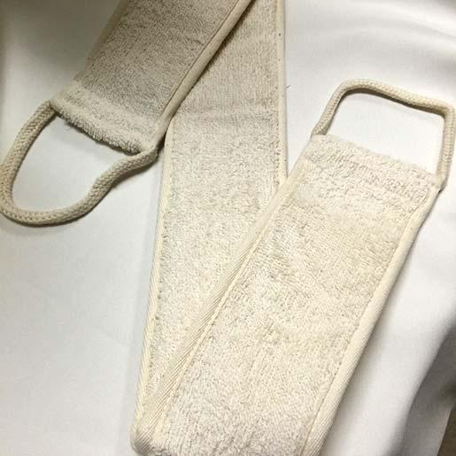 Loofa back scrubber
