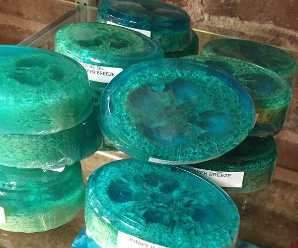 Juniper Breeze Olive Oil Soap with Loofa