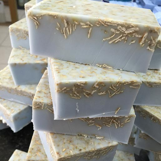 Oatmeal goat's milk soap